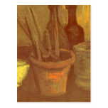 Still Life Paintbrushes in a Pot Vincent van Gogh Post Cards