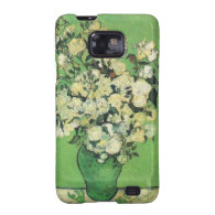 Still life - Pink Roses in a Vase,van Gogh Samsung Galaxy SII Covers