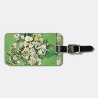 Still life - Pink Roses in a Vase Vincent an Gogh, Bag Tag