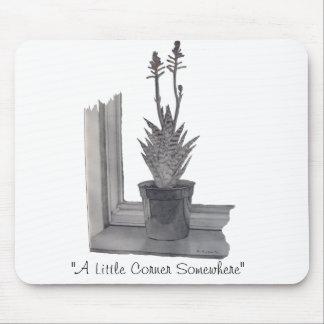 Still life pot plant realist art drawin mouse pad