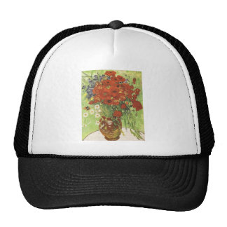 Still life - Red poppies and daises Trucker Hat