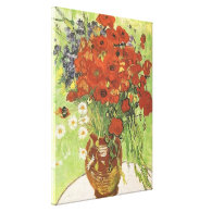 Still Life Red Poppies and Daisies1890 Canvas Prints