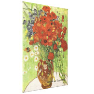Still Life Red Poppies and Daisies1890 Stretched Canvas Prints