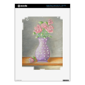 still life roses decal for iPad 3