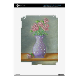 Still Life Roses Decals For iPad 3