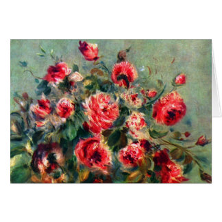 Still life roses of Vargemont by Claude Monet Stationery Note Card
