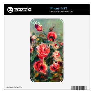 Still life roses of Vargemont by Claude Monet Decals For The iPhone 4