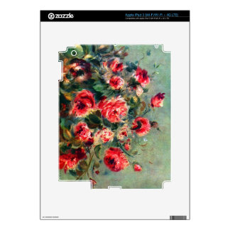 Still life roses of Vargemont by Pierre Renoir Skins For iPad 3