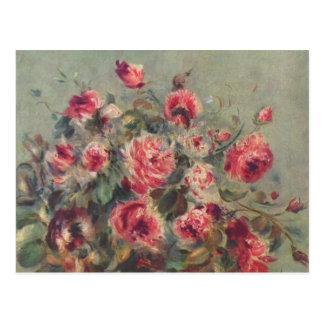 Still Life, Roses of Vargemont   Renoir Postcard