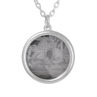 Still life round pendant necklace