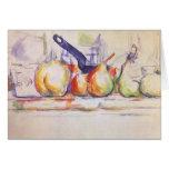 Still Life Saucepan by Cezanne, Impressionism Art Card