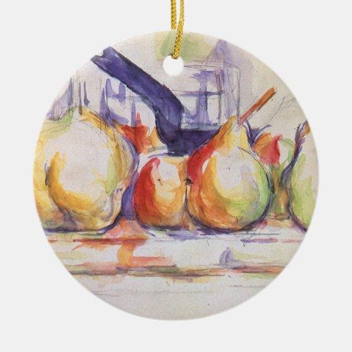 Still Life Saucepan by Cezanne, Impressionism Art Christmas Ornament
