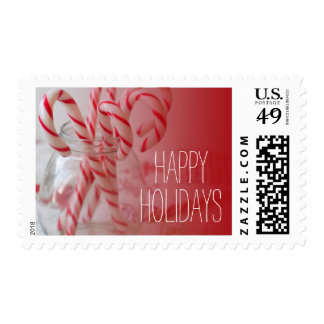 Still life shot with Christmas candy canes Postage