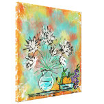 still life stretched canvas print