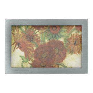 Still Life: Sunflowers Rectangular Belt Buckle