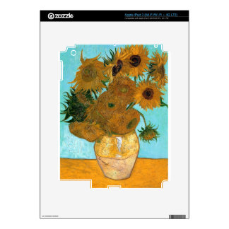 Still Life: Sunflowers - Vincent van Gogh Decal For iPad 3