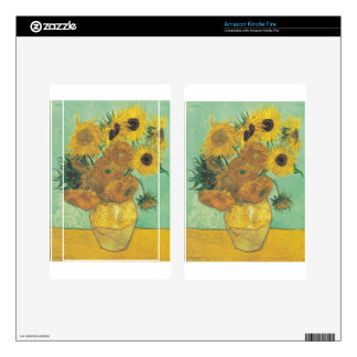 Still Life: Sunflowers - Vincent van Gogh Decal For Kindle Fire