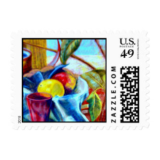 Still life tropical postage stamp