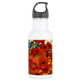 Still Life, Vase with Daisies and Poppies (1890) 18oz Water Bottle