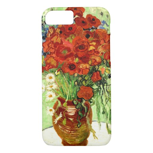 Still Life, Vase with Daisies and Poppies Van Gogh iPhone 8/7 Case