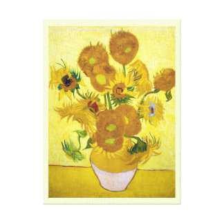 Still Life - Vase with Fifteen Sunflowers van gogh Stretched Canvas Prints