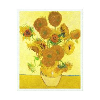 Still Life - Vase with Fifteen Sunflowers van gogh Canvas Prints