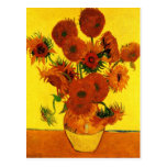 Still Life Vase with Fifteen Sunflowers -Van Gogh Post Card