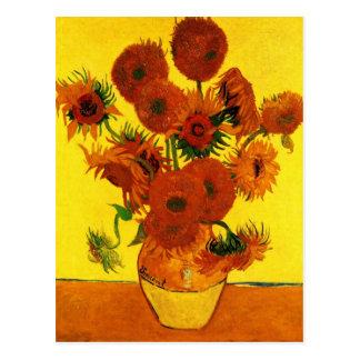 Still Life Vase with Fifteen Sunflowers -Van Gogh Postcard