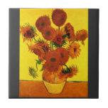 Still Life Vase with Fifteen Sunflowers -Van Gogh Ceramic Tiles