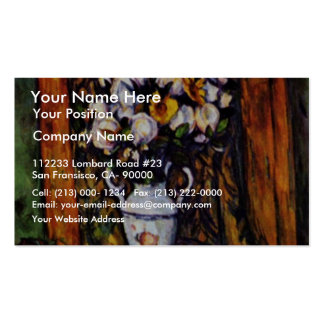 Still Life Vase With Flowers By Paul Cézanne Business Card