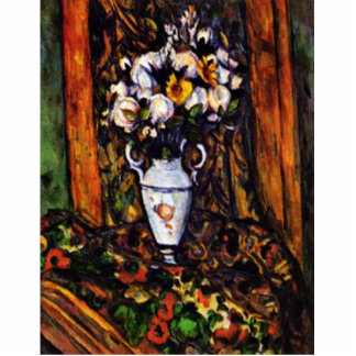 Still Life Vase With Flowers By Paul Cézanne Cut Out