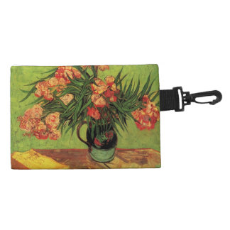 Still Life Vase with Oleanders and Books, Van Gogh Accessories Bag