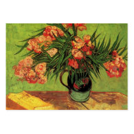 Still Life Vase with Oleanders and Books, Van Gogh Business Card