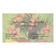 Still Life Vase with Oleanders and Books, Van Gogh Business Cards