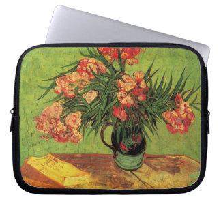 Still Life Vase with Oleanders and Books -Van Gogh Laptop Sleeve