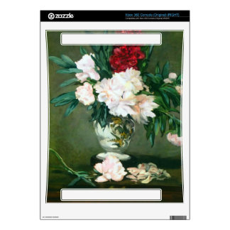 Still Life, Vase with Peonies by Edouard Manet Decal For Xbox 360