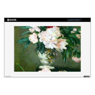 Still Life, Vase with Peonies by Edouard Manet Skins For Laptops