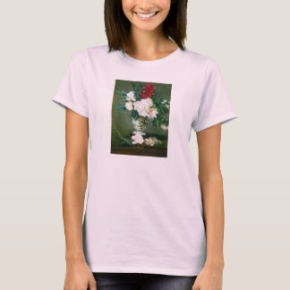 Still Life, Vase with Peonies by Edouard Manet T-Shirt