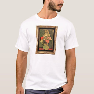 Still Life Vase With Rose Mallows by van Gogh 1890 T-Shirt