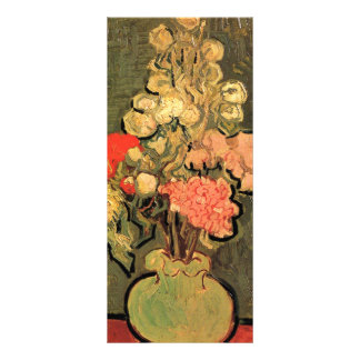 Still Life Vase with Rose-Mallows by van Gogh Rack Card