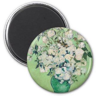 Still Life: Vase with Roses - Vincent Van Gogh Magnet