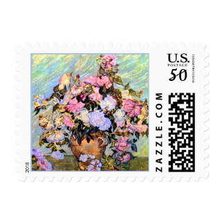 Still Life Vase with Roses Vincent Van Gogh Postage