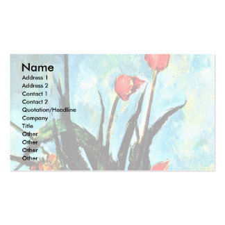 Still Life Vase With Tulips By Paul Cézanne Business Card Template