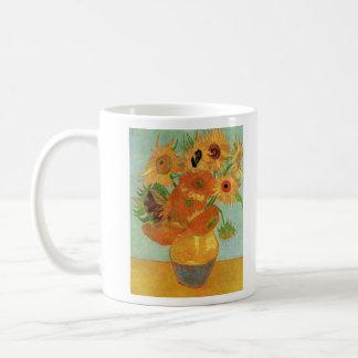 Still Life Vase with Twelve Sunflowers by Van Gogh Coffee Mug