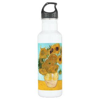 Still Life - Vase with Twelve Sunflowers van Gogh 24oz Water Bottle