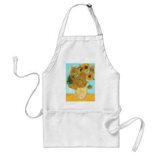 Still Life - Vase with Twelve Sunflowers van Gogh Adult Apron