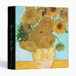 Still Life - Vase with Twelve Sunflowers van Gogh Vinyl Binders