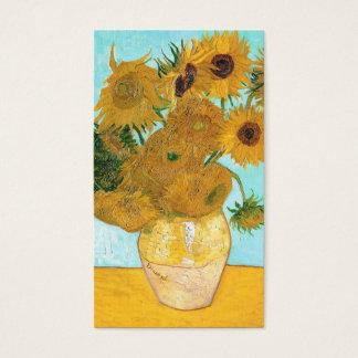 Still Life - Vase with Twelve Sunflowers van Gogh Business Card