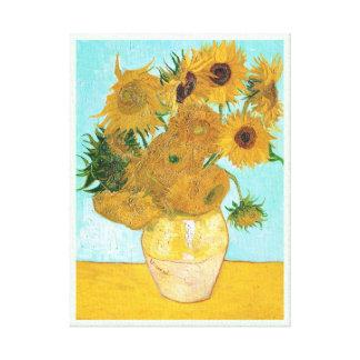 Still Life - Vase with Twelve Sunflowers van Gogh Stretched Canvas Print