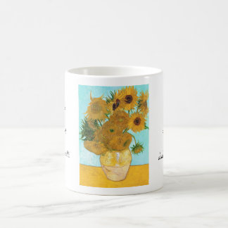 Still Life - Vase with Twelve Sunflowers van Gogh Classic White Coffee Mug